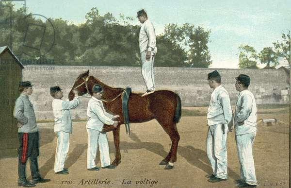 French Artillery, Horse Aerobatics (colour photo)