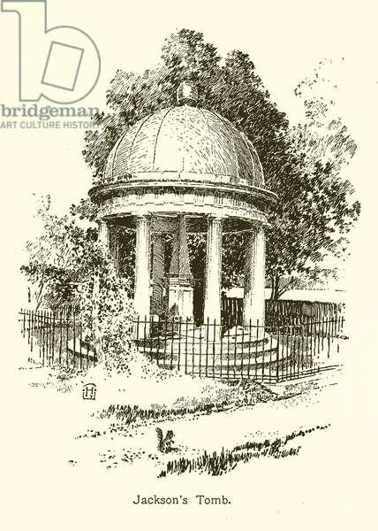 Jackson's Tomb, Andrew Jackson (engraving)