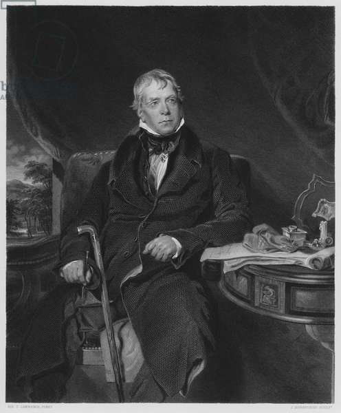 Sir Walter Scott, Baronet, from the picture in the Royal Collection (engraving)