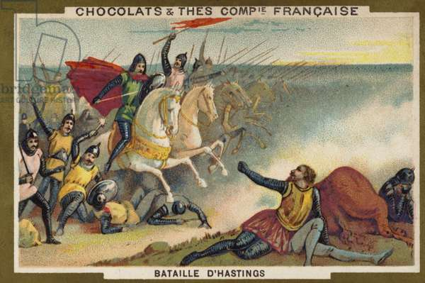 Battle of Hastings (chromolitho)