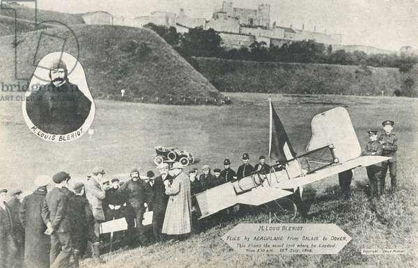 M Louis Bleriot crosses the channel (b/w photo)