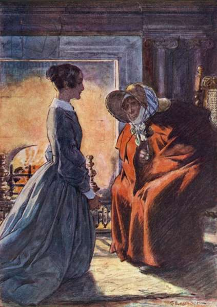 Jane Eyre and the Gipsy (colour litho)
