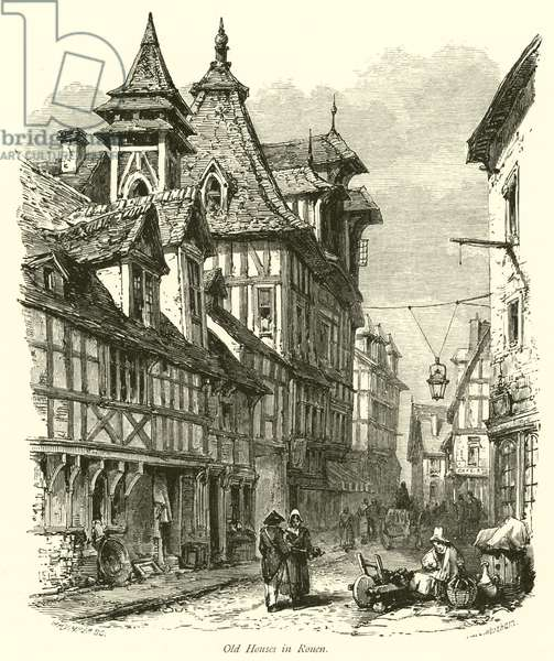 Old Houses in Rouen (engraving)