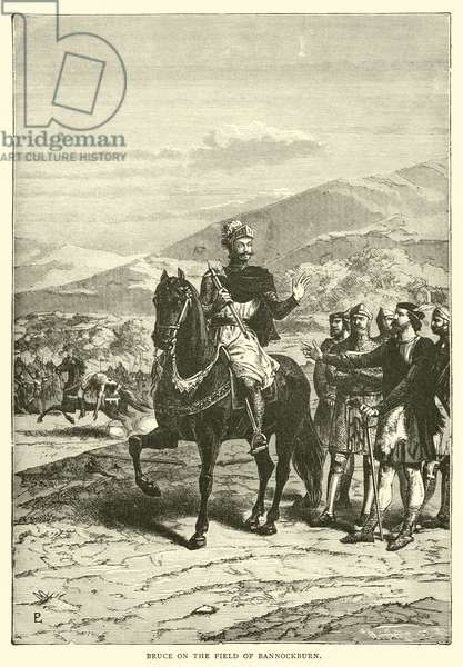 Bruce on the Field of Bannockburn (engraving)