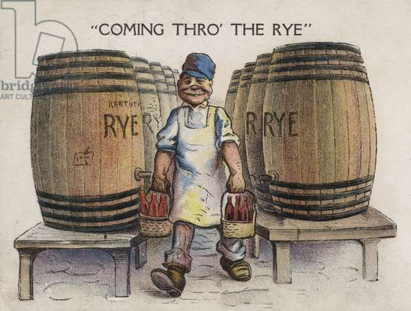 Coming thro' the rye (colour litho)