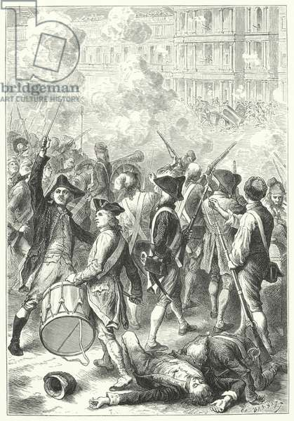 Storming of the Tuileries Palace by the sans-culottes, 1792 (engraving)