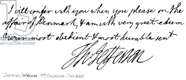 Thomas Jefferson, 3rd American President (engraving)