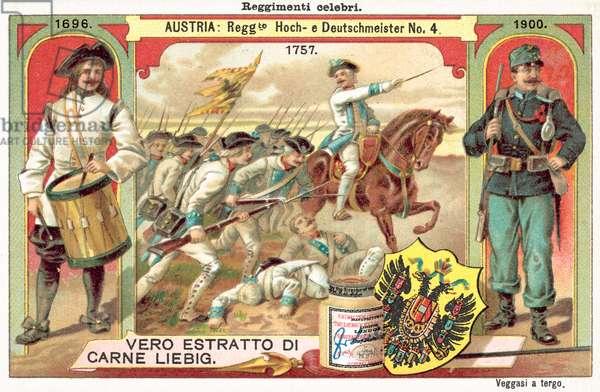 Austrian Hoch und Deutschmeister no 4 Regiment (chromolitho)
