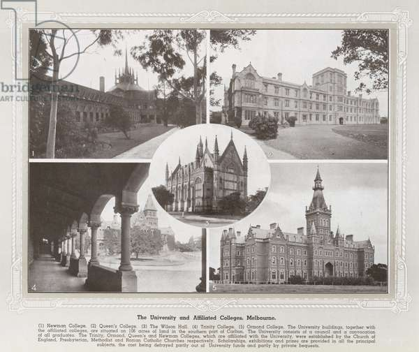 The University and Affiliated Colleges, Melbourne (b/w photo)