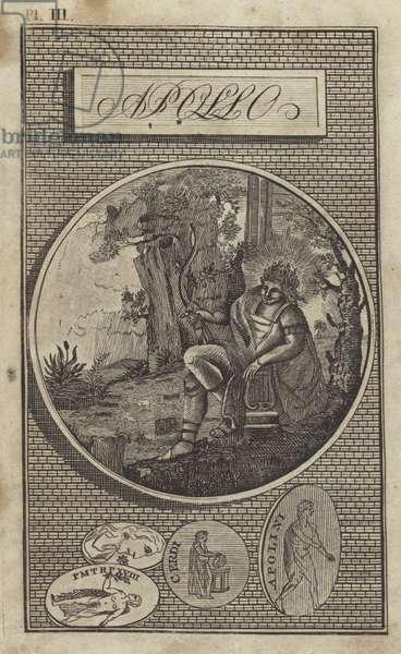 Apollo, ancient Greek god (engraving)