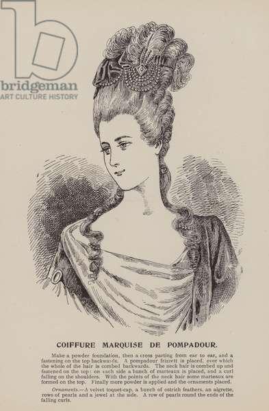 Coiffure Marquise de Pompadour (engraving)