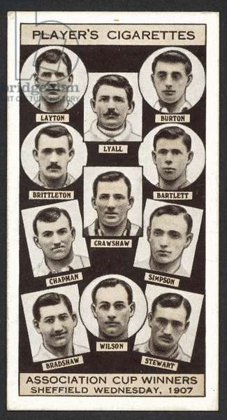 Association Cup Winners, Sheffield Wednesday, 1907 (litho)