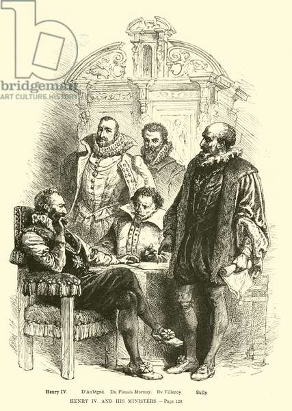 Henry IV and his ministers (engraving)