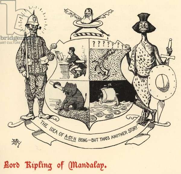 Lord Kipling of Mandalay (engraving)
