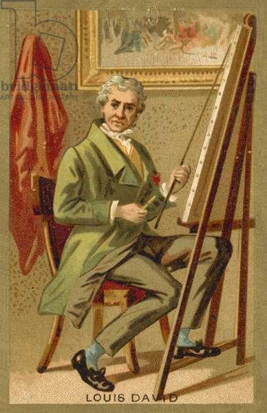 Jacques-Louis David, French artist (chromolitho)