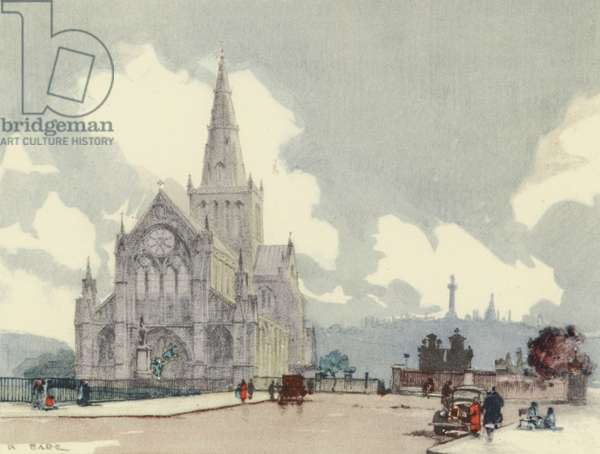 Glasgow: The Cathedral (colour litho)