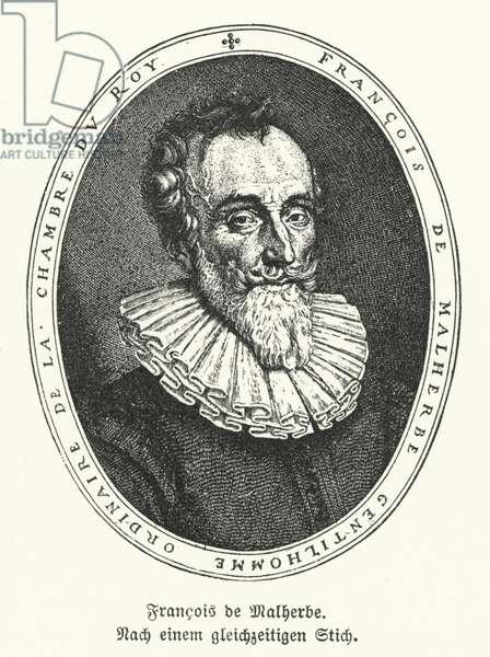 Francois de Malherbe, French poet and translator (litho)