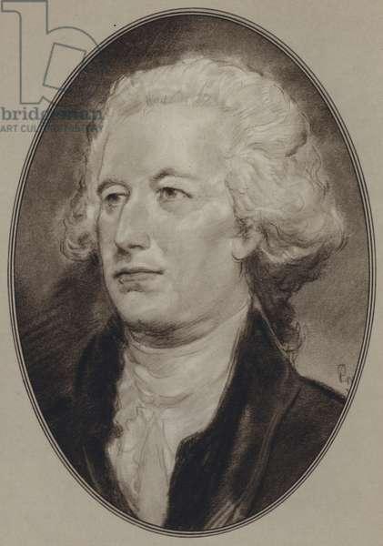 Portraits of American Statesmen: Alexander Hamilton (litho)