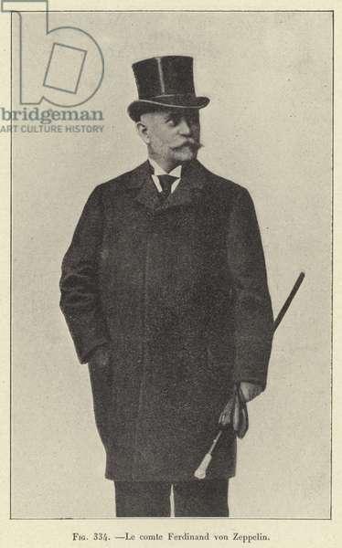Le comte Ferdinand von Zeppelin (engraving)