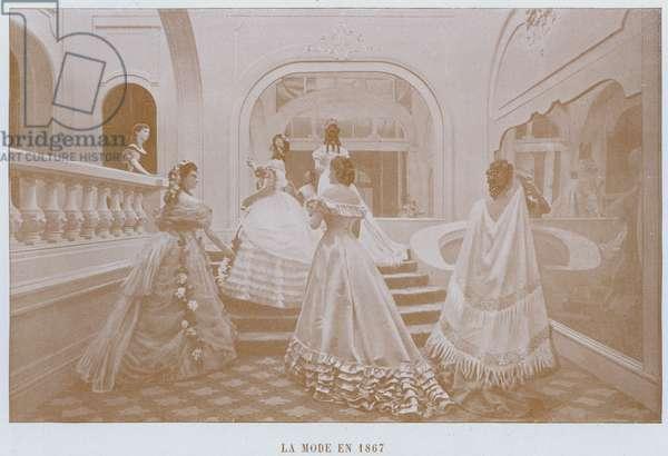 La Mode En 1867 (b/w photo)