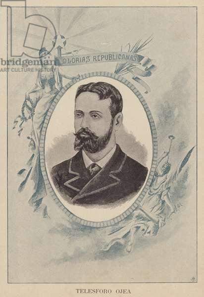 Telesforo Ojea y Somoza, Spanish Republican publisher and orator (litho)