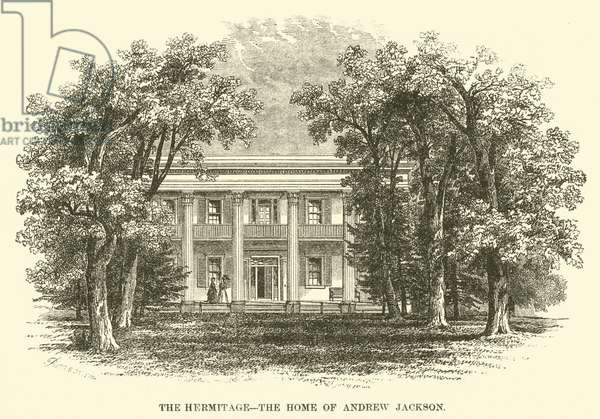The Hermitage, the Home of Andrew Jackson (engraving)