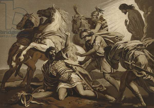 The conversion of St Paul on the road to Damascus (chromolitho)