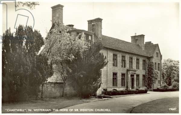 Chartwell, nr Westerham, the home of Sir Winston Churchill (b/w photo)