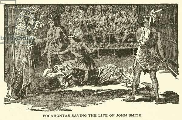 Pocahontas saving the life of John Smith (engraving)