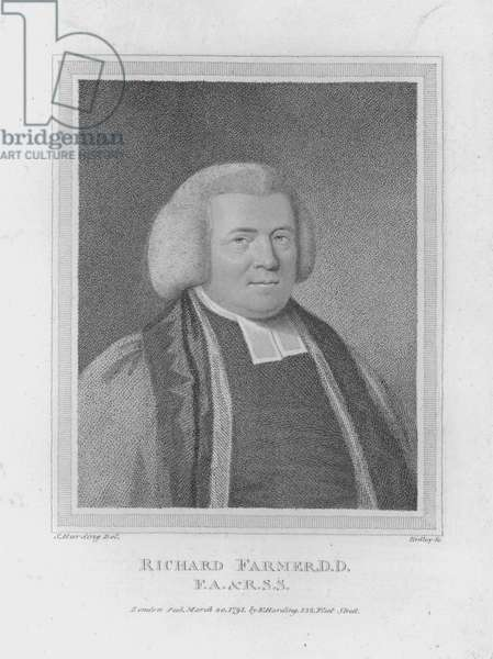 Richard Farmer, DD, FA and RSS (engraving)