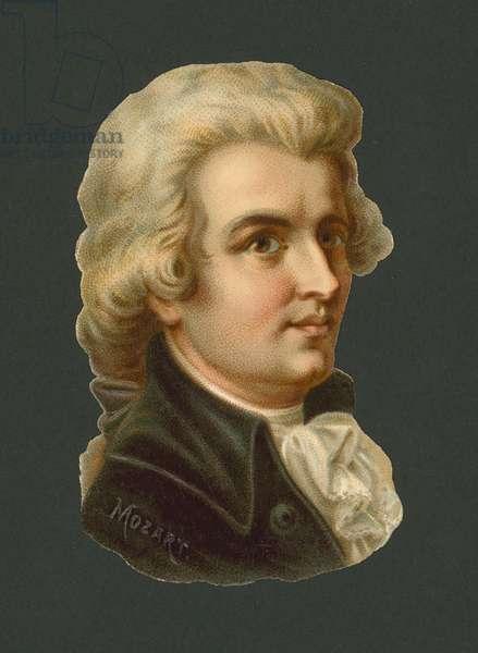 Wolfgang Amadeus Mozart (chromolitho)