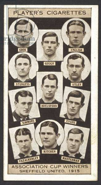 Association Cup Winners, Sheffield United, 1915 (litho)