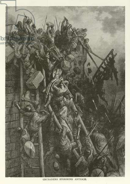 Crusaders storming Antioch (engraving)