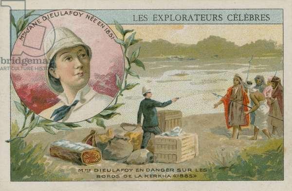 Jane Dieulafoy, French archaeologist and explorer (chromolitho)