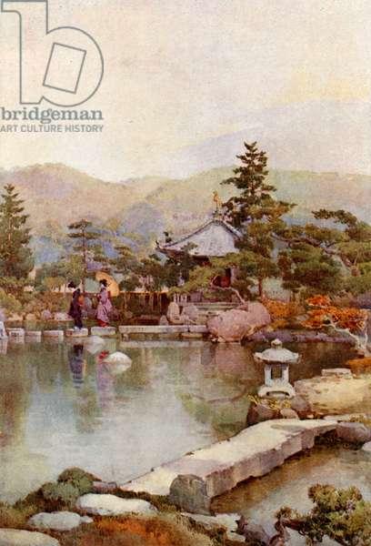 A Landscape Garden (colour litho)