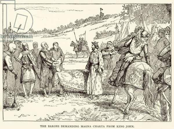 The Barons demanding Magna Charta from King John (engraving)