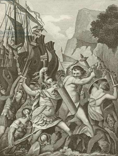 Landing of Julius Caesar (engraving)