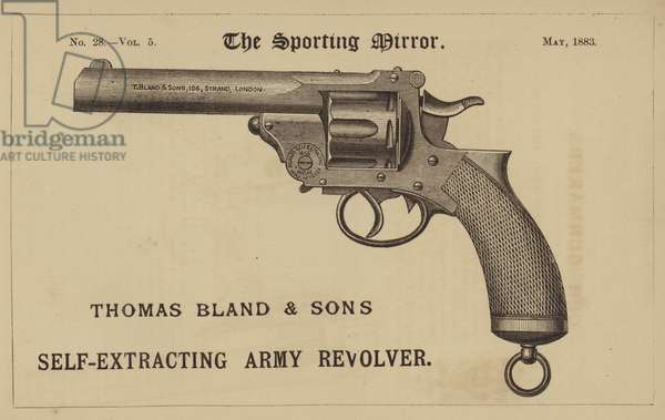 Thomas Bland and Son's Self-Extracting Army Revolver (engraving)