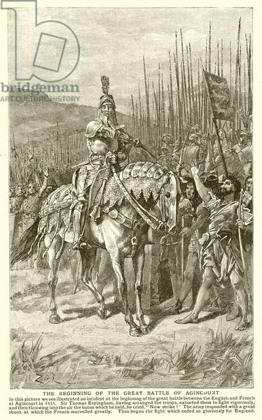 The Beginning of the Great Battle of Agincourt (engraving)