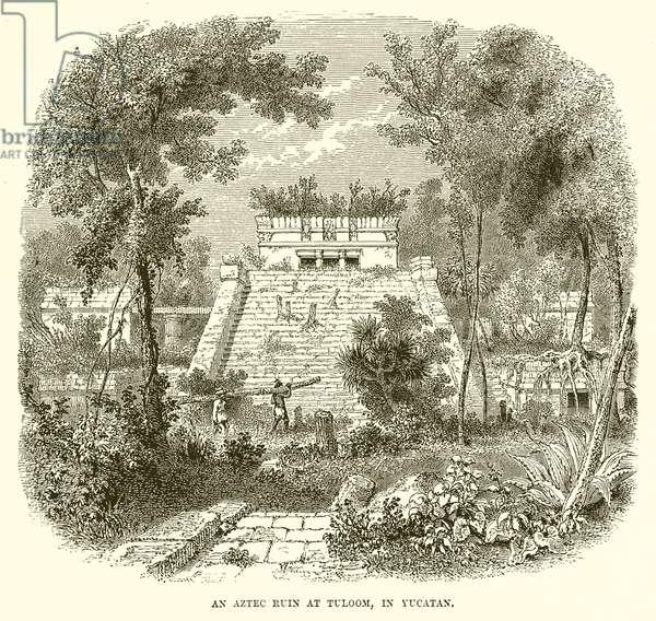 An Aztec ruin at Tuloom, in Yucatan (engraving)