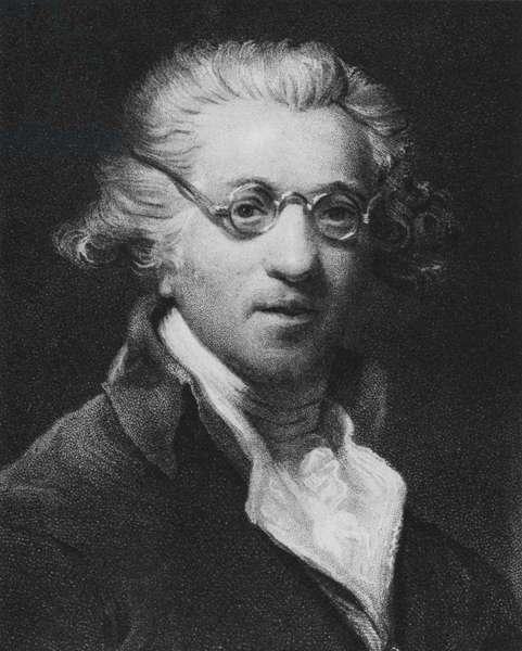 Sir Joshua Reynolds, self-portrait (litho)