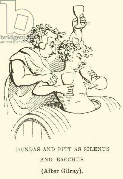 Dundas and Pitt as Silenus and Bacchus, (After Gilray) (engraving)
