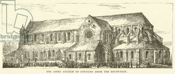 The Abbey Church of Pontigny from the South-East (engraving)
