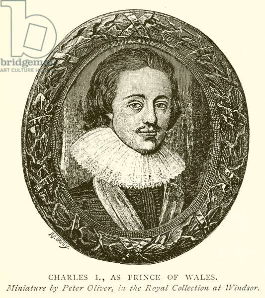 Charles I, as Prince of Wales (engraving)