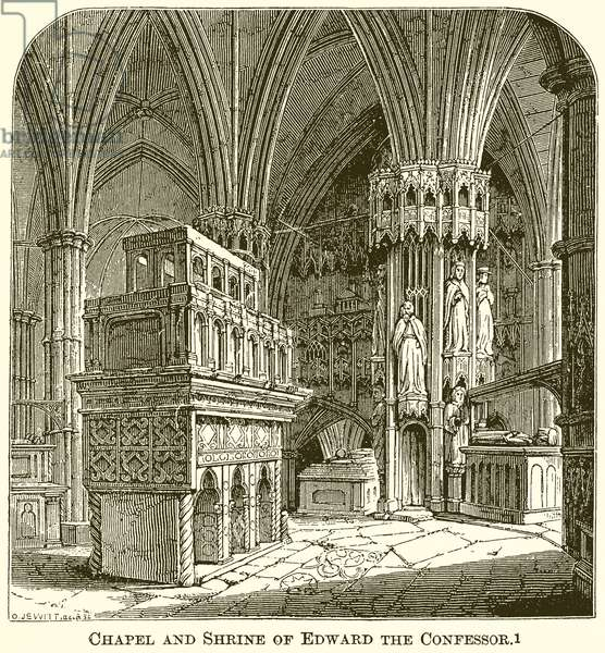 Chapel and Shrine of Edward the Confessor (engraving)