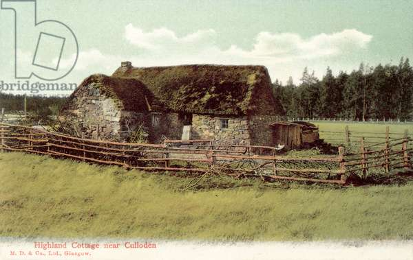Highland Cottage near Culloden (colour photo)