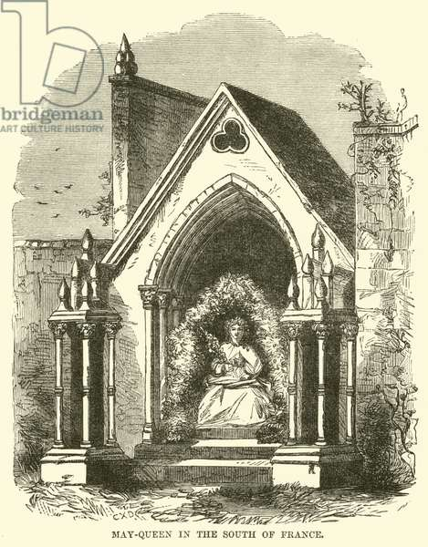 May-Queen in the South of France (engraving)