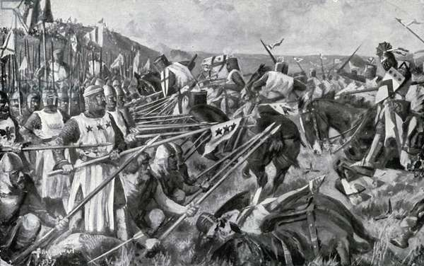 The Battle of Bannockburn (colour litho)