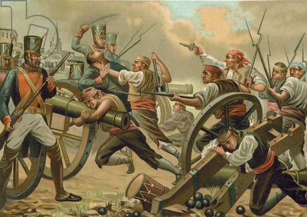 Siege of Zaragoza (chromolitho)