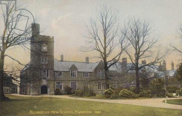 Blundells New School, Tiverton (coloured photo)